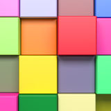 Colored cubes. 3d rendering with cubes of a lot of colors Stock Photography