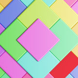 Colored cubes. 3d rendering with cubes of a lot of colors Vector Illustration