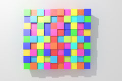 Colored cubes. 3d rendering with cubes of a lot of colors Royalty Free Illustration