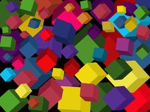 Colored cubes. vector. royalty free stock image