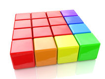 Colorful cubes Royalty Free Stock Image