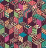 Colored cubes stock illustration