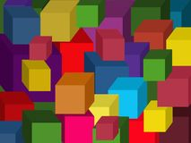 Colored cubes. vector. stock images