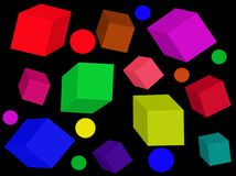 Colored cubes. vector. stock photography