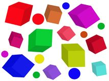 Colored cubes. vector. stock image