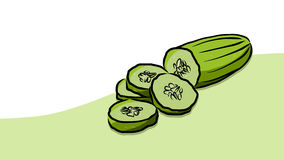 Colored Cuke Vector Card Royalty Free Stock Images