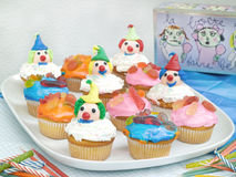 Colored Cup Cakes Royalty Free Stock Photography