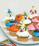 Colored Cup Cakes Royalty Free Stock Images
