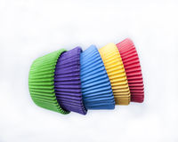 Colored Cupcake Papers Royalty Free Stock Photo