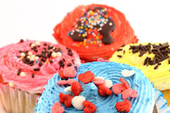 Colored cupcakes closeup Royalty Free Stock Photography
