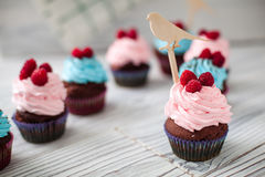 Colored Cupcakes sweet Stock Photo