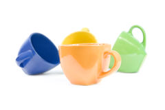 Colored cups. Stock Photo