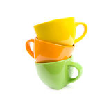 Colored cups. Stock Images