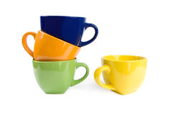 Colored cups. Royalty Free Stock Image