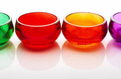 Colored cups Stock Photos