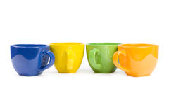 Colored cups. Royalty Free Stock Photos