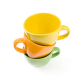 Colored cups. Royalty Free Stock Images