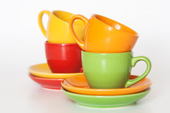 Colored cups Royalty Free Stock Photography