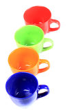 Colored cups Stock Image