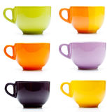 Colored cups set Stock Photo