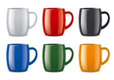 Colored cups set Stock Photography
