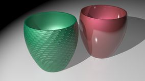 Colored cups Royalty Free Stock Image