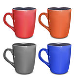 Colored Cups Stock Photography