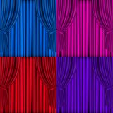 Colored Curtains Background Royalty Free Stock Photography