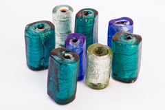 Colored cylindrical stones. Some different colored stones in cilyndrical shape stock photography