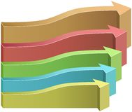 Colored 3D arrows infographics template Royalty Free Stock Photo