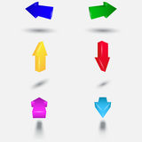Colored 3D arrows. Vector eps10 Stock Images