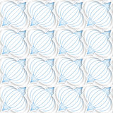 Colored 3D blue diagonal Chinese lanterns. Seamless geometric background. Modern 3D texture. Pattern with realistic shadow and cut out of paper effect Stock Photo