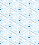 Colored 3D blue striped corners. Seamless geometric background. Modern 3D texture. Pattern with realistic shadow and cut out of paper effect stock illustration