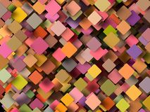 Colored 3d geometric shapes Royalty Free Stock Photos