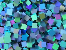 Colored 3d geometric shapes Stock Image