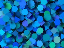 Colored 3d geometric shapes Stock Photography