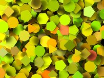 Colored 3d geometric shapes Stock Photos