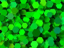 Colored 3d geometric shapes Royalty Free Stock Photography