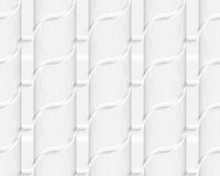 Colored 3D gray striped ribbons. Seamless geometric background. Modern 3D texture. Pattern with realistic shadow and cut out of paper effect Stock Photos