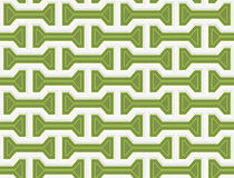 Colored 3D green bolts. Seamless geometric background. Modern 3D texture. Pattern with realistic shadow and cut out of paper effect Royalty Free Stock Image
