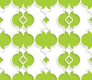 Colored 3D green Marrakech. Seamless geometric background. Modern 3D texture. Pattern with realistic shadow and cut out of paper effect Royalty Free Illustration