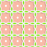 Colored 3D green and orange striped pointy squares. Seamless geometric background. Modern 3D texture. Pattern with realistic shadow and cut out of paper effect Royalty Free Stock Images