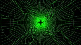 3D Green Sci-Fi Digital Tunnel Loopable Motion Background V3. Colored 3D Green Sci-Fi Digital Tunnel Loopable Motion Background V3 Backdrop stock video