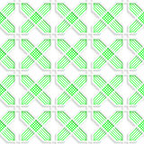 Colored 3D green striped crosses. Seamless geometric background. Modern 3D texture. Pattern with realistic shadow and cut out of paper effect Stock Photo