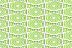 Colored 3D green striped squished hexagons Royalty Free Stock Photos