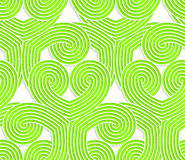 Colored 3D green striped swirls. Seamless geometric background. Modern 3D texture. Pattern with realistic shadow and cut out of paper effect Stock Illustration