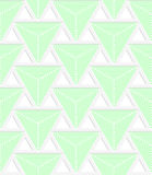 Colored 3D green triangles with grid. Seamless geometric background. Modern 3D texture. Pattern with realistic shadow and cut out of paper effect Royalty Free Stock Photos