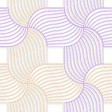 Colored 3D orange and purple striped pedals. Seamless geometric background. Modern 3D texture. Pattern with realistic shadow and cut out of paper effect Stock Photography
