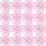 Colored 3D pink striped pedals with squares Royalty Free Stock Photos
