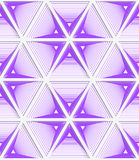 Colored 3D purple striped hexagonal grid. Seamless geometric background. Modern 3D texture. Pattern with realistic shadow and cut out of paper effect Stock Photography